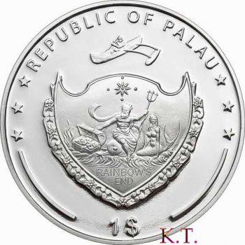 PALAU ISLANDS  Ναός της Αρτέμιδος έγχρωμο Proof  δολάριο 2009
