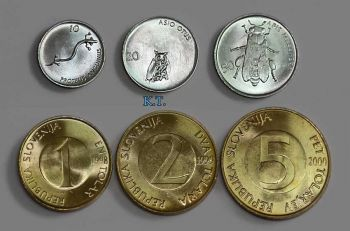 SLOVENIA set 6 διαφορετ. UNC 10,20,50 STOTINOV 1,2,5 TOLAR