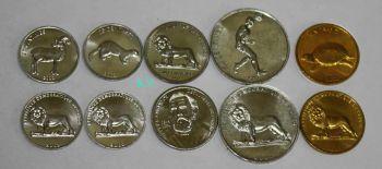 CONGO σετ 5 UNC νομίσματα με ζώα