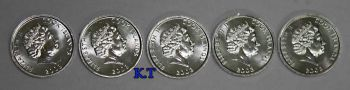 COOK ISLANDS σετ 5 UNC νομίσματα