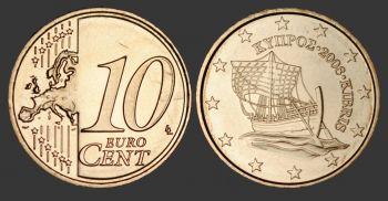 CYPRUS Ακυκλοφόρητη πλήρης σειρά 2009, 8 τεμαχίων Euro
