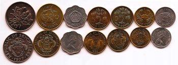 Seychelles set 7 UNC νομίσματα