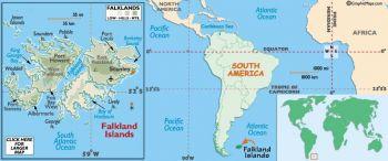 Falkland Islands σετ 4 UNC νομίσματα