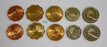 TANZANIA set 5 UNC νομίσματα