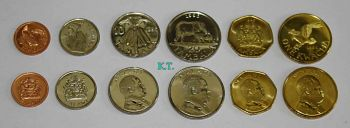 MALAWI σετ 6 UNC νομίσματα 1 TAMBALA - 1 KWACHA