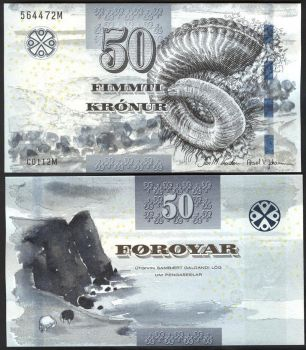 FAEROE ISLANDS 100 KRONUR 2001 UNC