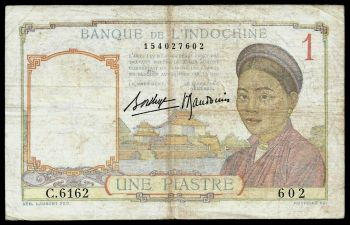 FRENCH INDOCHINA 1 PIASTRE ND 1949 AUNC