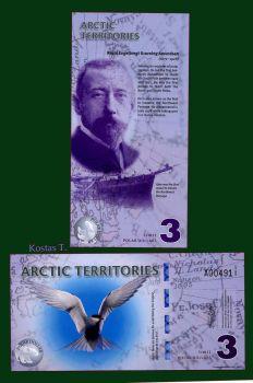 ARCTIC TERRITORIES 3 DOLLARS 2011 POLYMER UNC