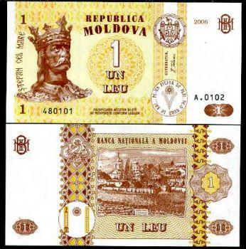 MOLDOVA 1 LEU 2006 UNC