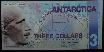 ANTARCTICA 10 DOLLARS 2009 POLYMER UNC