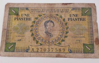 FRENCH INDOCHINA 1 PIASTRE ND (1953)  P104 UNC