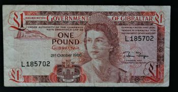 GIBRALTAR  10 POUNDS  2002  UNC