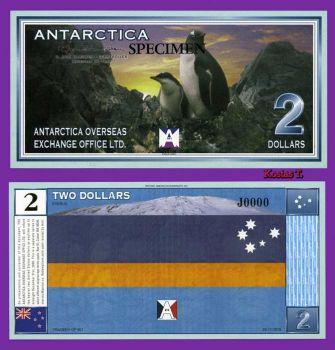 ANTARCTICA 2 DOLLARS 1999 SPECIMEN (Αρ.00000) UNC