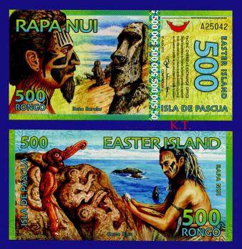 EASTER ISLAND 500 RONGO 2012 POLYMER UNC