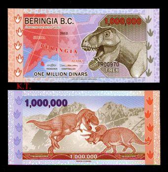 BERINGIA B.C. 1.000.000 DINARS 2012 POLYMER UNC