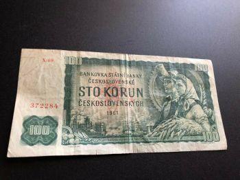 CZECHOSLOVAKIA 100 KORUN 1989 UNC