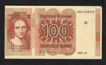 NORWAY 50 KRONER 1995 UNC