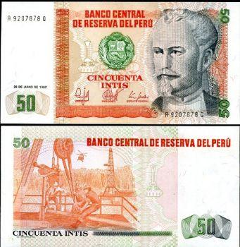 PERU 50 INTIS 1987 P 131 UNC