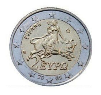 Greece 2 euro coin 2009 (Europa) UNC!!!!