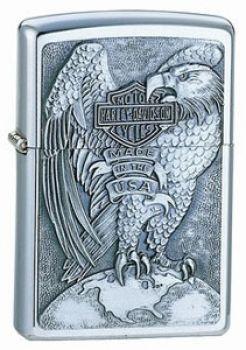 Zippo Harley-Davidson Eagle and Globe Emblem  -  Free shipping