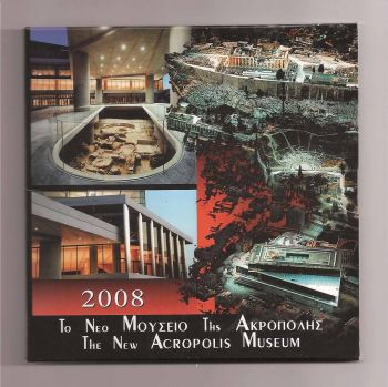 Greece: Official Triptych 2009 (Akropolis) with 10 EURO silver coin.