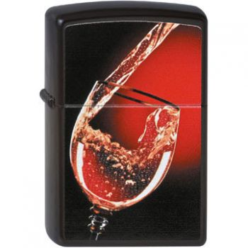 Zippo Wet Look - Glass of Wine    -   Free shipping
