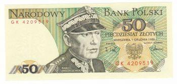 Polski 50 Zlotych 1988 UNC