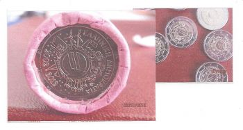 Greece: Roll 25* 2 EURO (10 years EURO- ONE)