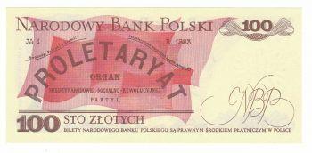POLAND 100 ZLOTYCH 1986 UNC
