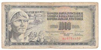 Yugoslavia 1978 1000 Dinara