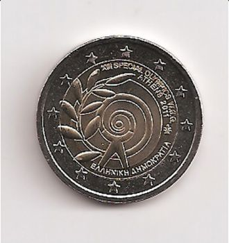 GREECE: 2 EURO Special Olympics 2011 UNC