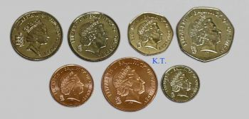 GUERNSEY σετ 7 διαφορετικών νομισμάτων UNC