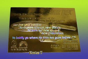 STAR TREK Kirk-McCoy-Spock (23Kt) Χρυσή συλλεκτική κάρτα