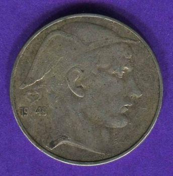 BELGIUM 20 FRANCS 1949 ΑΣΗΜΕΝΙΟ
