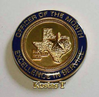 Officer of the month,  μοναδικό αναμνηστικό «νόμισμα»