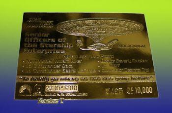 Senior Officers StarShip Enterprise Χρυσή23Kt συλλεκτ. κάρτα