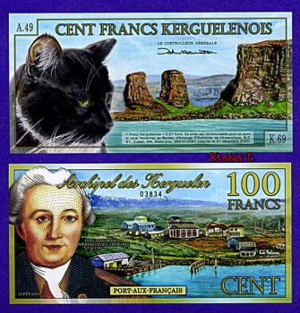 KERGUELEN ISLANDS (FRANCE) 100 FRANCS POLYMER NEW 2010 UNC