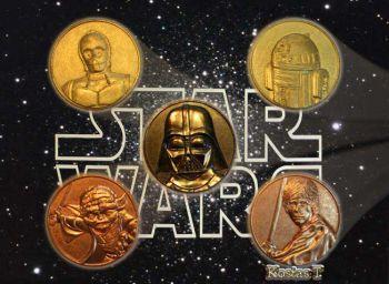Star Wars 5 αναμνηστικά νομίσματα