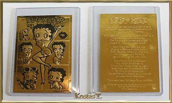 Betty Boop, Χρυσή (23Kt) συλλεκτική κάρτα