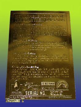 STAR TREK 4 Captains Χρυσή (23Kt) συλλεκτική κάρτα