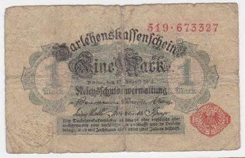 GERMANY 2 MARK 1.3.1920 P-59 AU-UNC