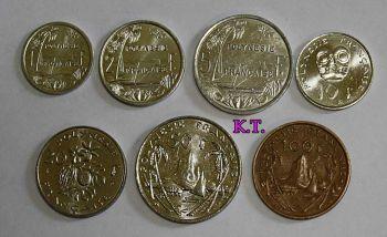 French Polynesia  σετ 7 νομίσματα