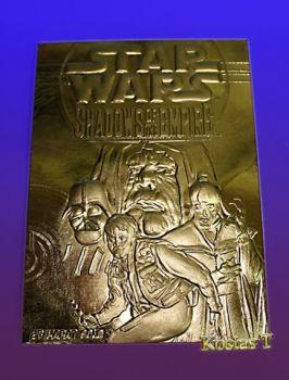 STAR WARS Shadows of the Empire Χρυσή 23Kt συλλεκτική κάρτα