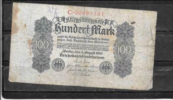 GERMANY 1 MARK 1 - 3 - 1920 P 58 AUNC