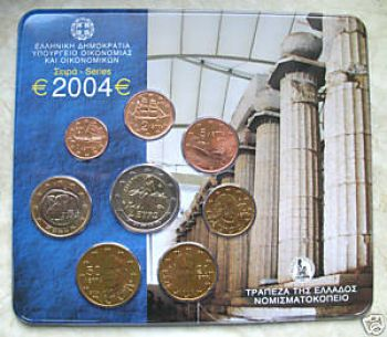 Greece  Greek  Blister  Official set   Year 2004
