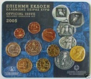 Greece  Greek  Blister  Official set   Year 2005