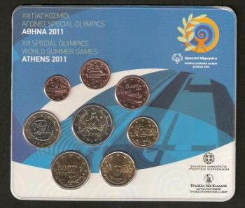 Greece  Greek  Blister  Official set Year 2011  ( 2 euro coin  Bull )