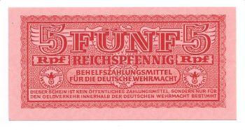 Occupation period (GERMANY) 5 Pfennig  UNC+