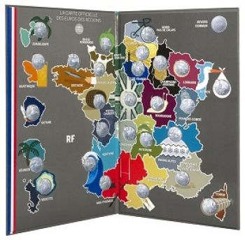 """France 27x 10 Euro Silver 2011 """"MONUMENTS OF THE REGIONS"""""""