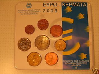 Greece  Greek  Blister  Official set   Year 2003